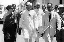 NEHRU IN HISTORIC WALK