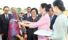 WELCOMING THE PM OF BANGLADESH