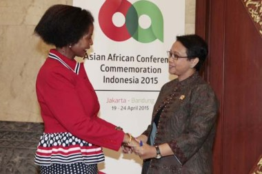 FOREIGN MINISTERS OF SOUTH AFRICA AND INDONESIA