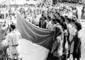 RAISING THE INDONESIAN FLAG ON 17-8-45