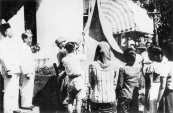 RAISING THE INDONESIAN FLAG ON 17-8-1945