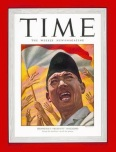 SUKARNO - FRONT COVER OF THE TIME MAGAZINE